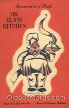 adv001520 - The Glass Kitchen, Glasgow, Delaware, DE USA Advertising Postcard Post Card