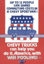 adv001523 - Chevy Trucks Advertising Postcard Post Card