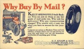 adv001538 - Buckeye Tires, C.F. Knapp & Son, Darien Centre, New York, NY Tire Service Advertising Postcard Post Card