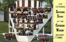 adv001559 - Covered Wagon, Kearney, Nebraska, USA Souvenir Stand Advertising Postcard Post Card