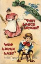 adv001638 - They Laugh Longest Who Laugh Last Advertising Post Card Post Card