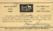adv001714 - Lamb Knit Goods Company Colon, Michigan Advertising Post Card Post Card