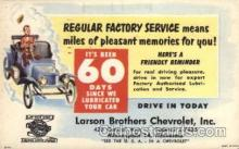 adv001748 - Larson Brothers Chevrolet Inc. Minneapolis, Minnesota Advertising Post Card Post Card