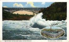 adv001765 - Niagara Wall Paper Co. Whirlpool Rapids & Lower River Bridge Advertising Post Card Post Card