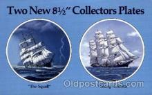 adv001814 - American Heritage Art Products Ltd. Early American Sailing Ship Collector Plates Advertising Post Card Post Card