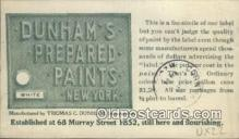 adv001861 - Dunhams Prepared Paints, New York, NY USA Advertising Postcard Post Card
