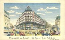 adv001865 - Pharmacie A Bailly  Advertising Postcard Post Card