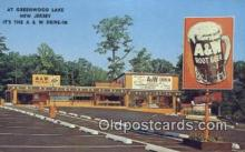 adv001868 - A & W Drive In, At Greenwood Lake, New Jersey, USA Advertising Postcard Post Card
