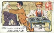 adv001877 - Merci De Voire fourneau Bellemere Advertising Postcard Post Card