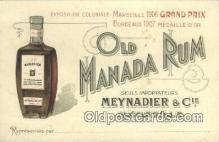 adv001880 - Old Manada Rum Advertising Postcard Post Card