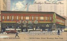 adv001886 - Joe's Restautants Fulton Street, Brooklyn, NY USA Advertising Postcard Post Card