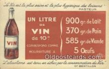 adv001896 - Un Litre De Vin De 10 c  Advertising Postcard Post Card