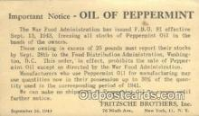adv001909 - Oil Of Peppermint, Fritzsche Brothers, Inc. New York, NY USA Advertising Postcard Post Card