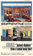 adv002011 - Serpentine Advertising Postcard Post Card