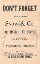adv002016 - Snow's & Co, Commission Merchants Advertising Postcard Post Card