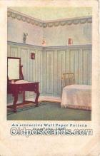 adv002018 - Wall Paper Pattern, SA Maxwell & CO Exclusive Line Advertising Postcard Post Card