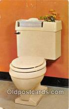 Eljer Planter, Toilet Tank Cover Postcard Post Card