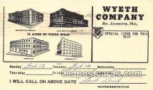 adv002045 - Wyeth Company Advertising Postcard Post Card