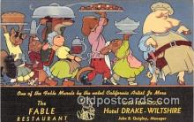 adv002069 - Fable Restaurant Advertising Postcard Post Card