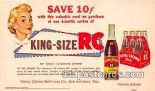 King Size RC, Royal Crown Bottling Co Postcard Post Card