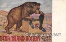 adv002082 - Bear Brand Hosiery Advertising Postcard Post Card