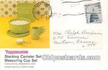 adv002084 - Tupperware, Stacking Canister Set, Measuring Cup Set Advertising Postcard Post Card