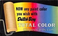 adv002096 - Dutch Boy, Total Color Advertising Postcard Post Card