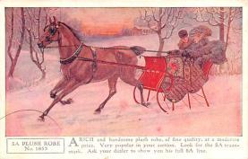 adv019001 - Horse Blanket Advertising Old Vintage Antique Post Card