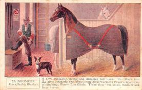 adv019005 - Horse Blanket Advertising Old Vintage Antique Post Card