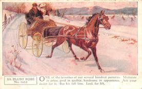 adv019007 - Horse Blanket Advertising Old Vintage Antique Post Card