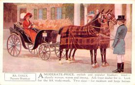 adv019011 - Horse Blanket Advertising Old Vintage Antique Post Card