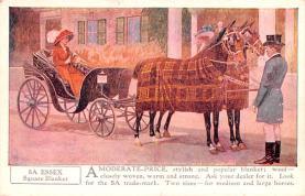 adv019013 - Horse Blanket Advertising Old Vintage Antique Post Card
