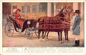 adv019017 - Horse Blanket Advertising Old Vintage Antique Post Card