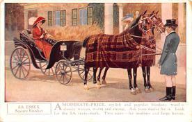 adv019019 - Horse Blanket Advertising Old Vintage Antique Post Card