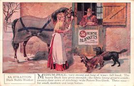 adv019021 - Horse Blanket Advertising Old Vintage Antique Post Card