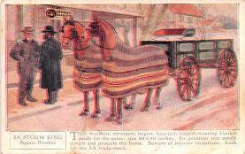 adv019023 - Horse Blanket Advertising Old Vintage Antique Post Card