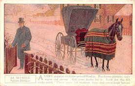adv019027 - Horse Blanket Advertising Old Vintage Antique Post Card