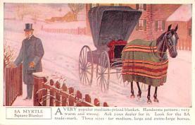 adv019029 - Horse Blanket Advertising Old Vintage Antique Post Card