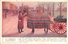 adv019031 - Horse Blanket Advertising Old Vintage Antique Post Card