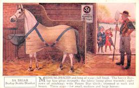 adv019035 - Horse Blanket Advertising Old Vintage Antique Post Card