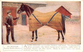 adv019039 - Horse Blanket Advertising Old Vintage Antique Post Card
