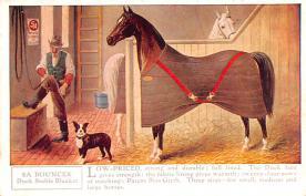 adv019041 - Horse Blanket Advertising Old Vintage Antique Post Card