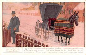 adv019043 - Horse Blanket Advertising Old Vintage Antique Post Card