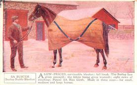 adv019047 - Horse Blanket Advertising Old Vintage Antique Post Card