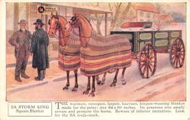 adv019051 - Horse Blanket Advertising Old Vintage Antique Post Card