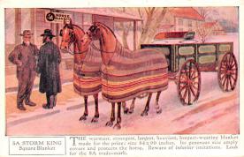 adv019053 - Horse Blanket Advertising Old Vintage Antique Post Card