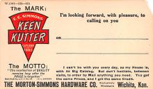 adv022055 - Hardware Advertising Old Vintage Antique Post Card
