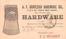 adv022069 - Hardware Advertising Old Vintage Antique Post Card
