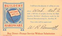 adv022249 - Hardware Advertising Old Vintage Antique Post Card