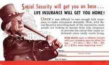 adv025151 - Insurance Advertising Old Vintage Antique Post Card
